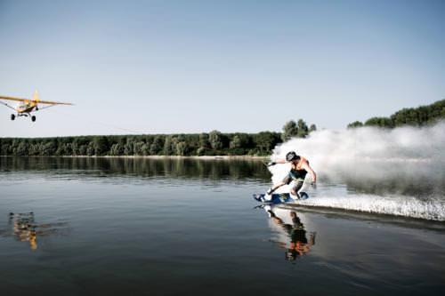 Areas aptas para practicar deportes acuaticos en el delta Argentina