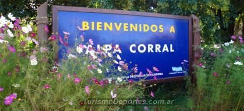 Cartel de bienvenida a Alpa Corral Córdoba
