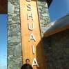Cartel de acceso a Ushuaia
