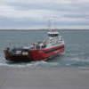Balsa en el estrecho de Magallanes