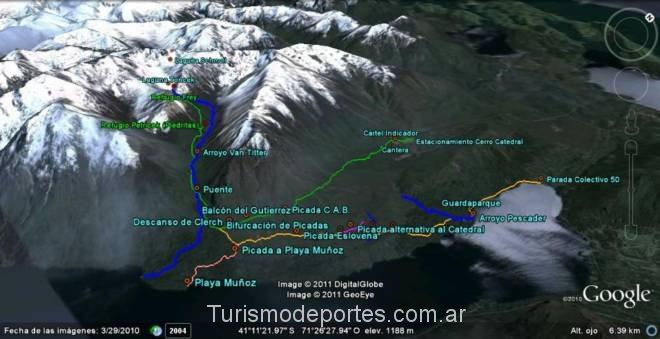 Mapa senderos refugio frey