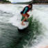 Moto surf en agua dulce con lancha