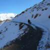 Cicloturismo en El Sosneado Mendoza con nieve