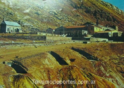 Pueblo de Puente Del Inca antes de ser arrasado por el alud