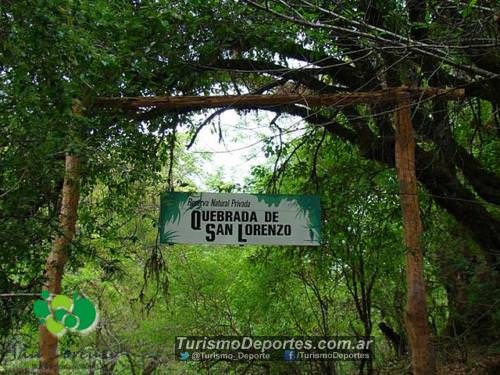 Quebrada de san lorenzo cartel entrada