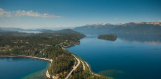 Ruta de los siete lagos en auto