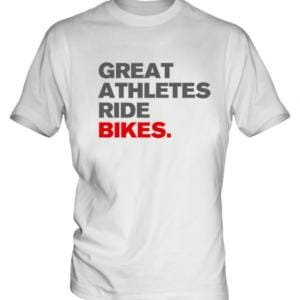 Remera ciclismo IKA STYLE modelo Great Athletes Ride Bikes algodon de primera calidad