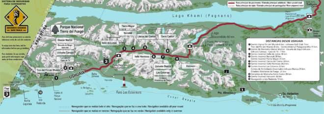 Mapa de Ushuaia Tierra Del Fuego